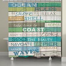 Ocean Rules Shower Curtain