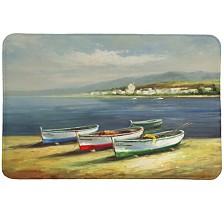 Boats On The Beach Memory Foam Rug