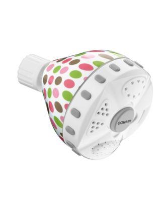 4-Setting Wall-Mounted Polka Dot Showerhead