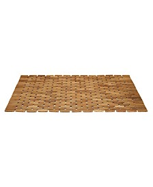 Conair Solid Teak Roll-Up Shower Mat