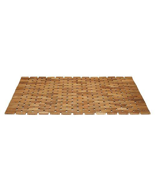 Conair Solid Teak Roll-Up Shower Mat