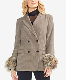 Vince Camuto Faux-Fur Cuffed Jacket