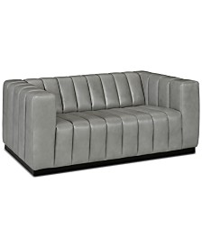 "Closeout! Halewood 66"" Leather Loveseat"