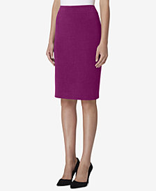 Tahari Petite ASL Wide-Waistband Pencil Skirt