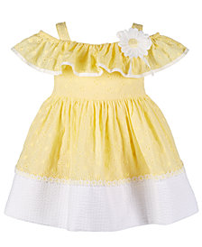 Bonnie Baby Baby Girls Embroidered Eyelet Peasant Dress