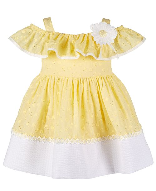 973ec2578 Bonnie Baby Baby Girls Embroidered Eyelet Peasant Dress   Reviews ...