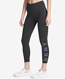 DKNY Sport High-Rise Logo Workout Leggings