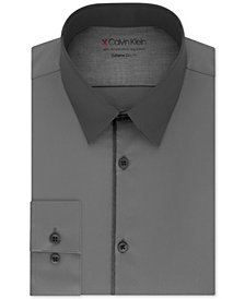 Calvin Klein Men's Extra-Slim Fit Performance Stretch Temperature-Regulating Colorblocked Dress Shirt
