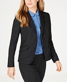 Anne Klein Pinstriped Two-Button Jacket