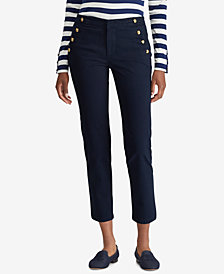 Lauren Ralph Lauren Button-Trim Chino Pants