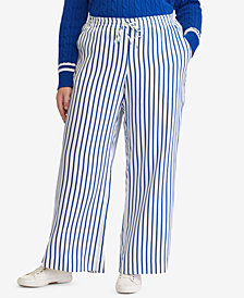 Lauren Ralph Lauren Plus Size Striped Twill Pants