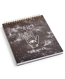 "Tri-Coastal ""Your Fate Is In Your Hands""  Large Spiral Sketch Book"
