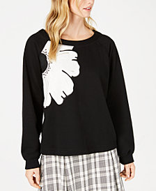 Weekend Max Mara Hull Floral Applique Sweatshirt