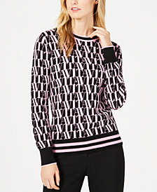 Marella Jazz Printed Long-Sleeve Sweater