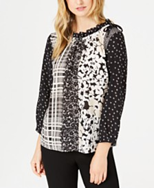 Weekend Max Mara Kartal Mixed-Print Top