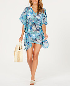 Tommy Hilfiger Printed Chiffon Kaftan Cover-Up