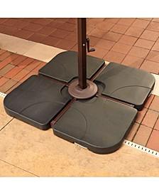 4 35-Lb Resin Cross-Arm Umbrella Base Weights