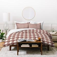 Deny Designs Holli Zollinger Anthology Of Pattern Seville Gingham Maroon Twin Duvet Set