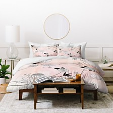 Deny Designs Iveta Abolina Coral Dust King Duvet Set