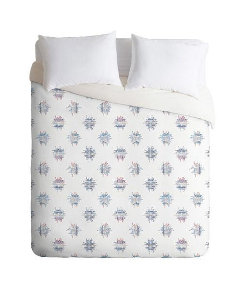 Deny Designs Holli Zollinger French Linen Ikat Dot Queen Duvet Set