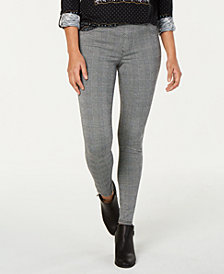 Style & Co Petite Plaid Comfort-Waist Leggings, Created for Macy's