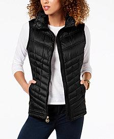 MICHAEL Michael Kors Faux-Fur-Trim Puffer Vest