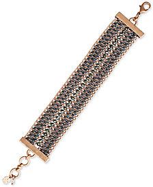 Lucky Brand Rose Gold-Tone Multi-Chain Flex Bracelet
