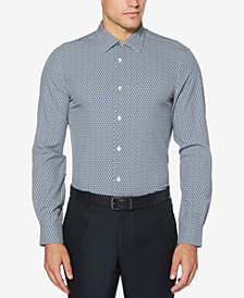 Perry Ellis Men's Slim-Fit Mini-Triangle Shirt