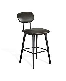 """30""""H Black Barstool, Cushion Seat"""