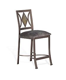 "Alexander 24""H Metal Barstool, Cushion Seat"