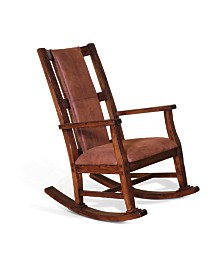 Santa Fe Dark Chocolate Rocker, Cushion Seat