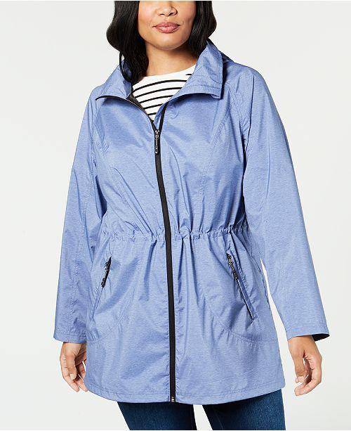 32 Degrees Plus Size Hooded Waterproof Anorak Raincoat