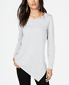 INC Asymmetrical-Hem Tunic Sweatshirt, Created for Macy's