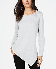 INC Asymmetrical-Hem Tunic Sweatshirt, Created for Macy's