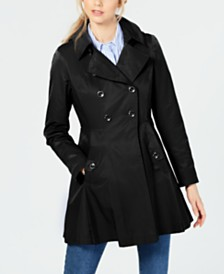 Via Spiga Hooded Skirted Water Resistant Trench Coat
