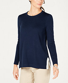 Charter Club Crew-Neck Long-Sleeve Sweater, Created for Macy's
