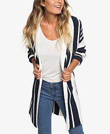 Roxy Juniors' Striped Cardigan