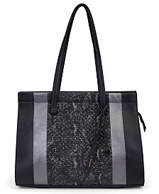 T Tahari Sienna Leather Colorblock Tote