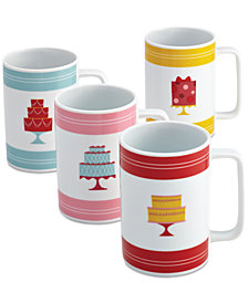 Cake Boss Set of 4 Porcelain Mini-Cakes Mugs