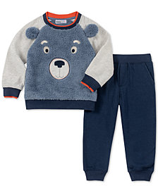 Kids Headquarters Toddler Boys 2-Pc. Fuzzy Bear Face Top & Pants Set