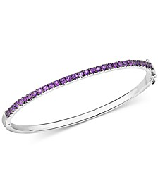 Amethyst Bangle Bracelet (1-1/10 ct. t.w.) in Sterling Silver