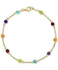 EFFY® Multi-Gemstone Link Bracelet (2-1/2 ct. t.w.) in 14k Gold