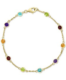 EFFY® Multi-Gemstone Link Bracelet (2-1/2 ct. t.w.) in 14k Gold