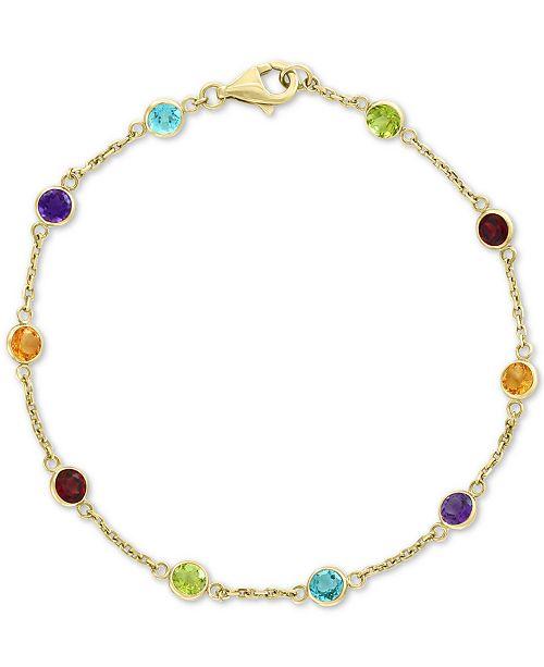 EFFY Collection EFFY® Multi-Gemstone Link Bracelet (2-1/2 ct. t.w.) in 14k Gold