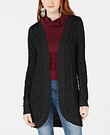Juniors' Crochet Open-Front Cardigan Sweater, Created for Macy's