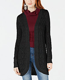 American Rag Juniors' Crochet Open-Front Cardigan, Created for Macy's