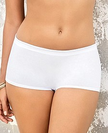 3-Pack Comfy Boyshort Panties in Stretch Cotton 12634X3