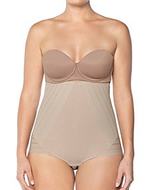 Lace Stripe High-Waisted Sculpting Body Shaper