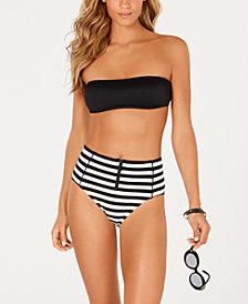 kate spade new york Bandeau Bikini Top & High-Waist Bottoms