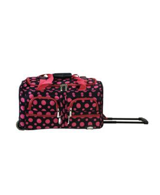 Rockland 22u0022 Rolling Duffel Bag - Pink Leopard